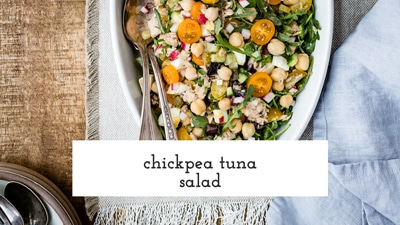 Learn how to make chickpea tuna salad