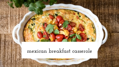 Learn How to make Mexican Breakfast Casserole