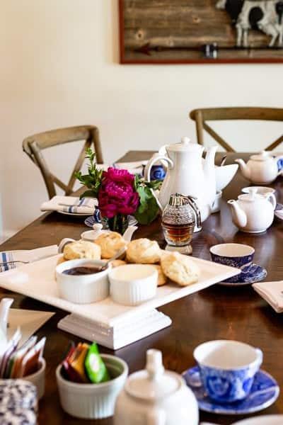 Breakfast Scene at Hill Farm Inn