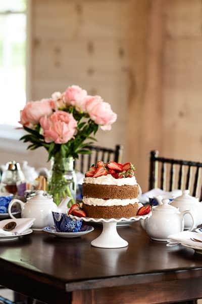 Tea time at Hill Farm Inn
