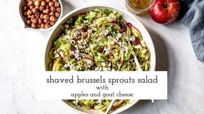 Shaved Brussel Sprout Salad with Apples