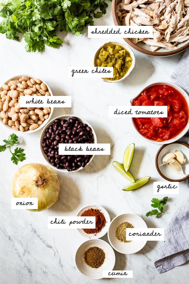 Super Simple Chicken Chili Recipe Ingredients