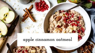 Apple Cinnamon Oatmeal Recipe Image