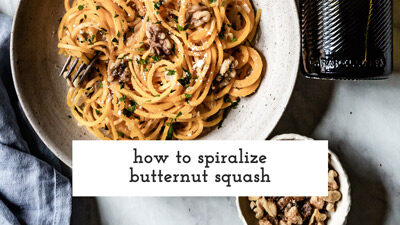 How To Spiralize Butternut Squash Video