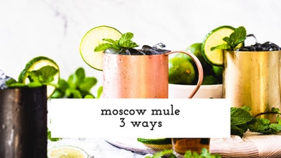 Moscow Mule 3 ways