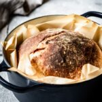 No Knead Artisan Bread photographed right out of oven