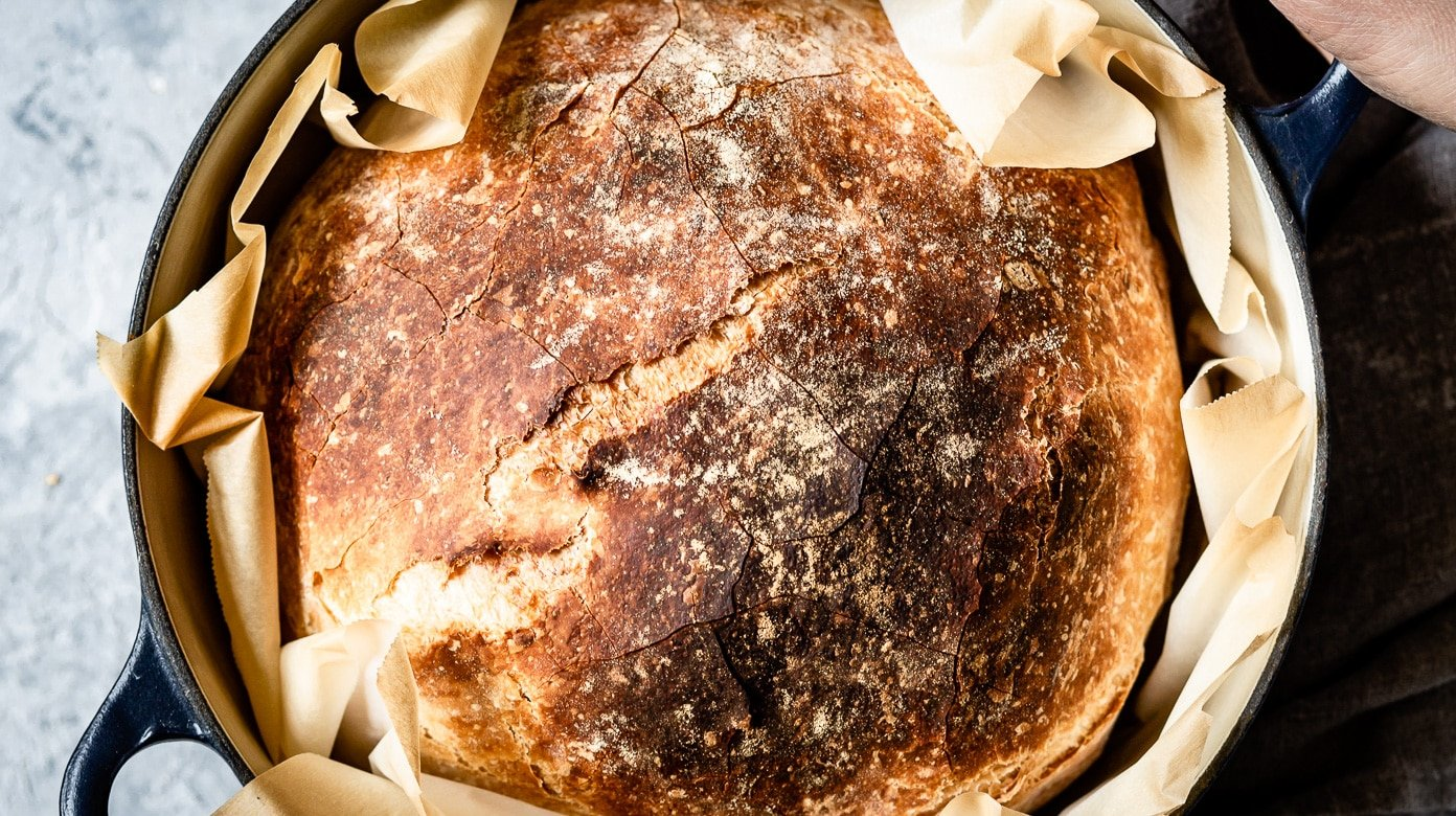 Crusty No Knead Artisan Bread Recipe - Foolproof Living