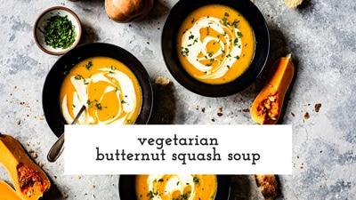 Vegetarian Butternut Squash Soup