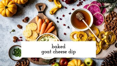 Baked Goat Cheese Dip Recipe Video