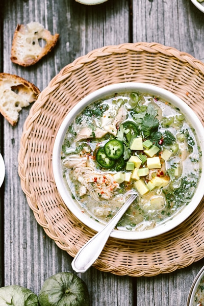 Crock pot chicken tomatillo soup as a part of football crock pot meals round up