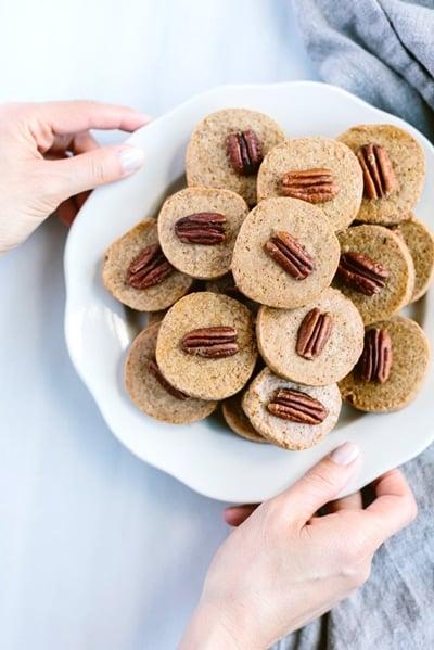 Fun Super Bowl Desserts - Naturally Sweetened Pecan Shortbread Cookies