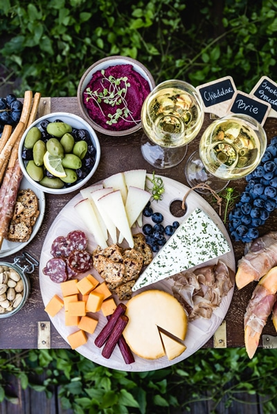 How to put together a meat and cheese platter as a part of a round up of game day appetizers