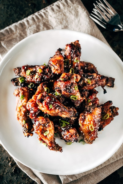 Slow Cooked Sticky Chicken Wings