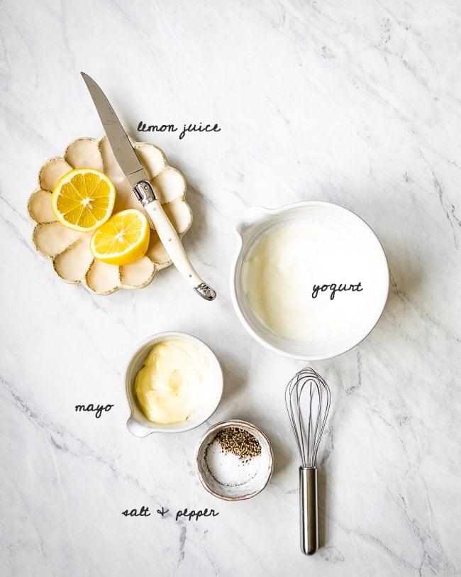 Yogurt dressing ingredients