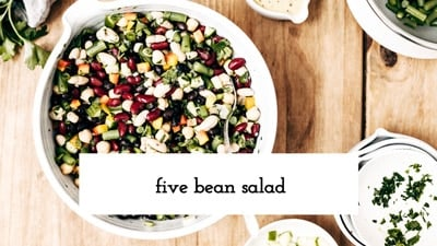 Learn how to make Five Bean Salad recipe in a quick how to video