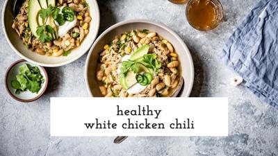Healthy white chicken chili recipe