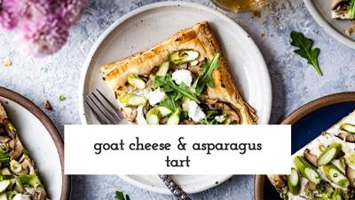 Goat Cheese Asparagus Tart