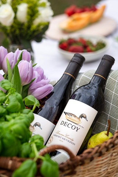 Decoy Wines with Homemade Caprese Pizza