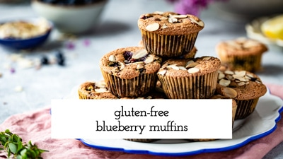 These easy Gluten Free Blueberry Muffins are moist, sweet, and loaded with blueberries. Made with almond flour, they are a perfect treat for a healthy breakfast or an afternoon snack.