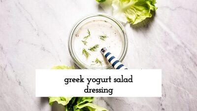 How To Make Greek Yogurt Salad Dressing Video
