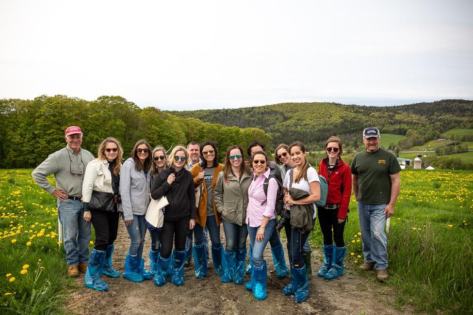 Stonyfield Organic farm Summer Farm Tour Attendees