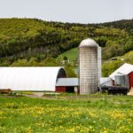 A view of one of the organic dairy farms that work with Stonyfield Organic. In Stowe Vermont