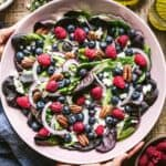 Blueberry Salad in a bowl