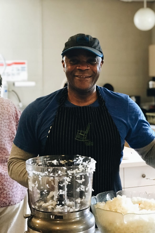 Dwight in the kitchen at Grateful hearts