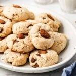 Gluten free and Paleo Almond Flour Cookies with Chocolate Chips