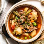 Crockpot Vegetable Beef Soup Recipe Image