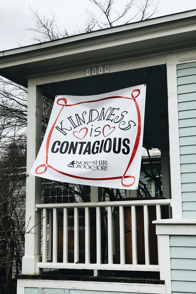 Kindness is Contagious sign