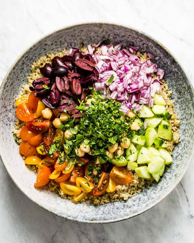Seasoned Quinoa Recipe ideas - Mediterranean Quinoa