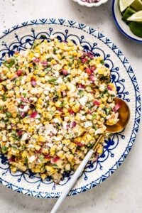 Easy Mexican Recipes - Street Corn Salad in a plate