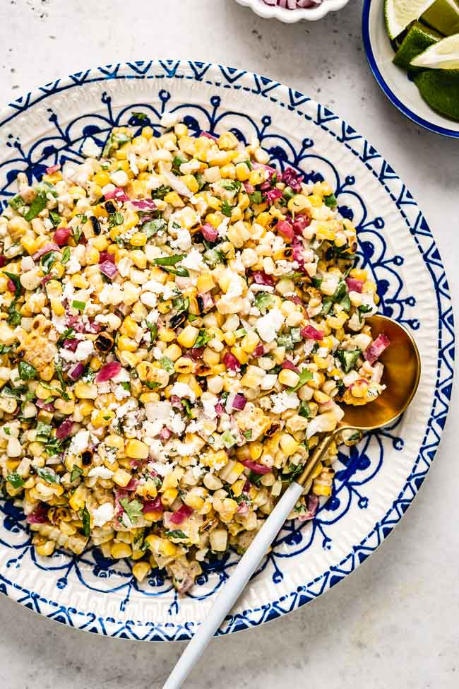 A round up of Easy Mexican Recipes - Mexican Street Corn Salad
