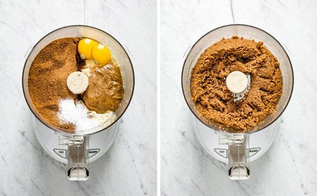 Food processor showing how to make this recipe with steps