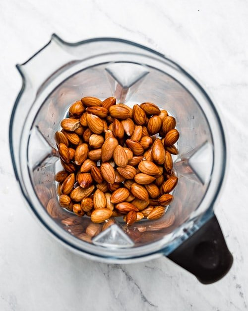 Almonds in a blender