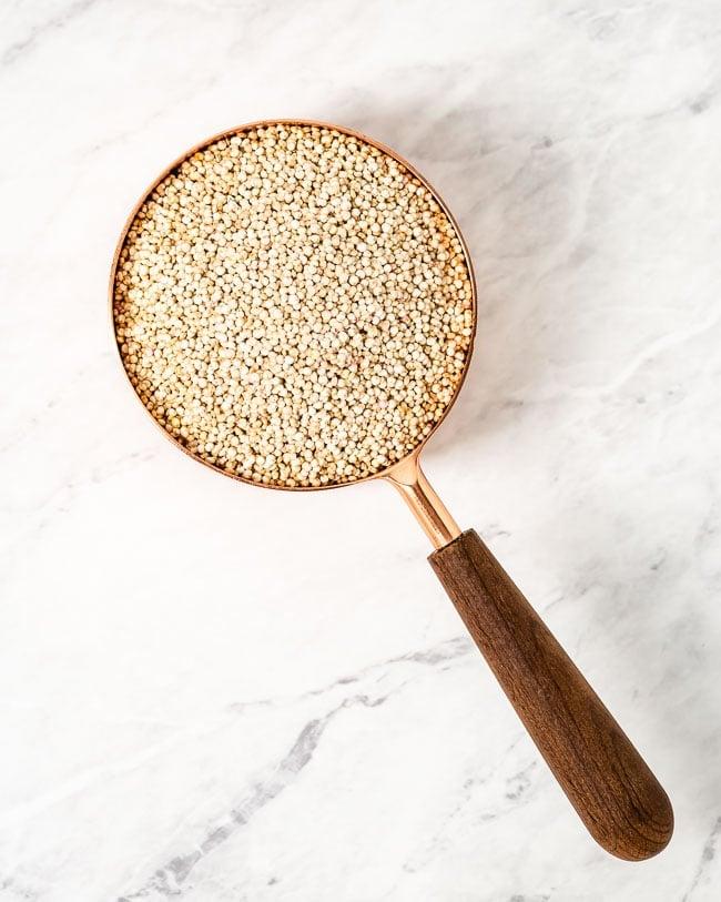 A cup of quinoa