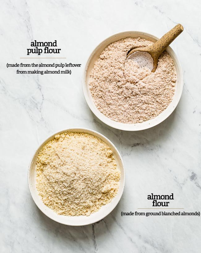 almond flour made from pulp versus almond flour made from ground almonds