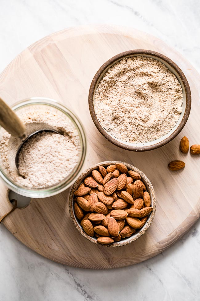Showing the difference between almond pulp made with different types of almonds