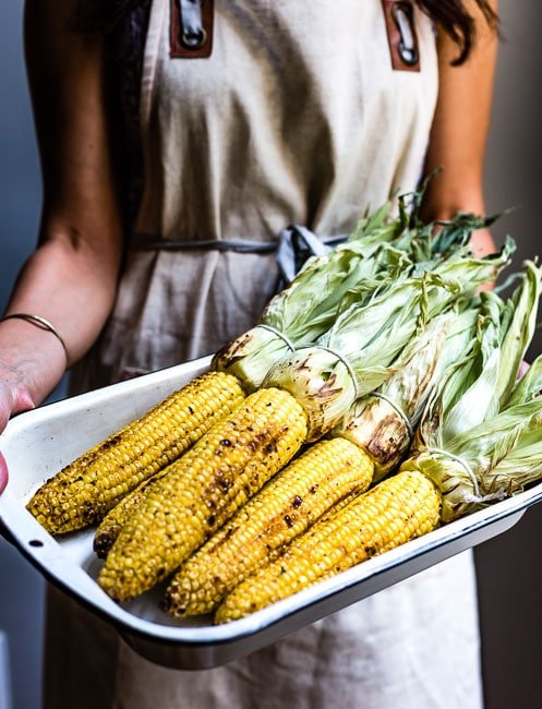 Grilled corn to make elotes