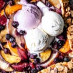 Peach galette image with text on it