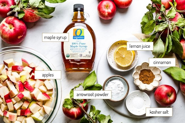 Ingredients for the apple layer