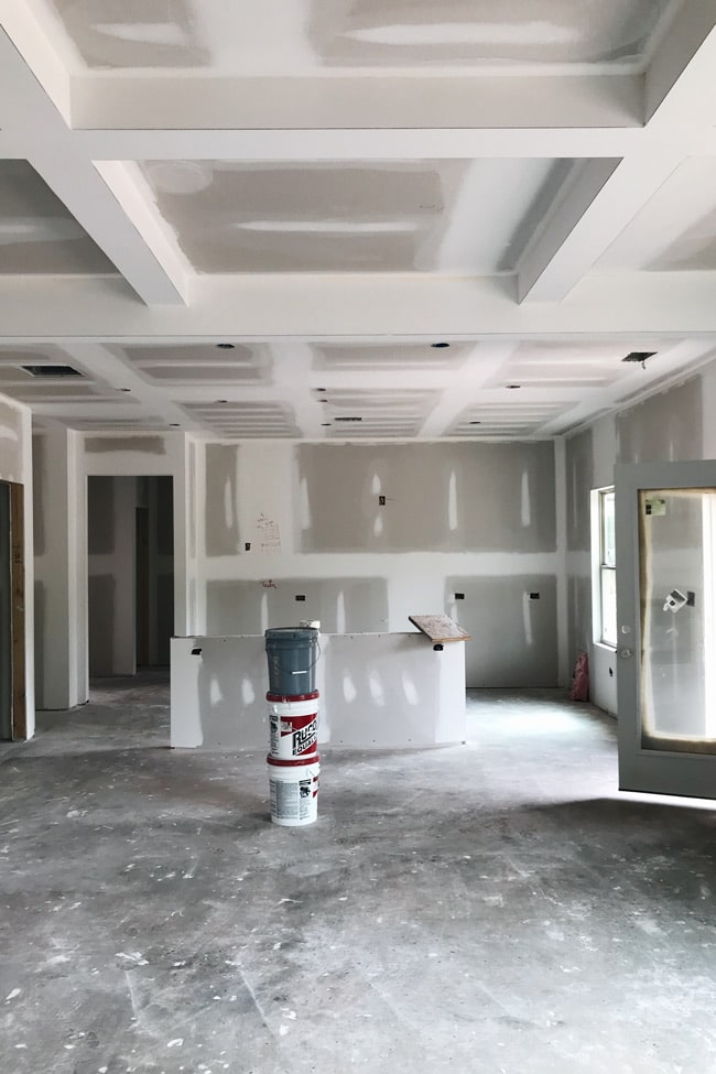 Our kitchen from during construction
