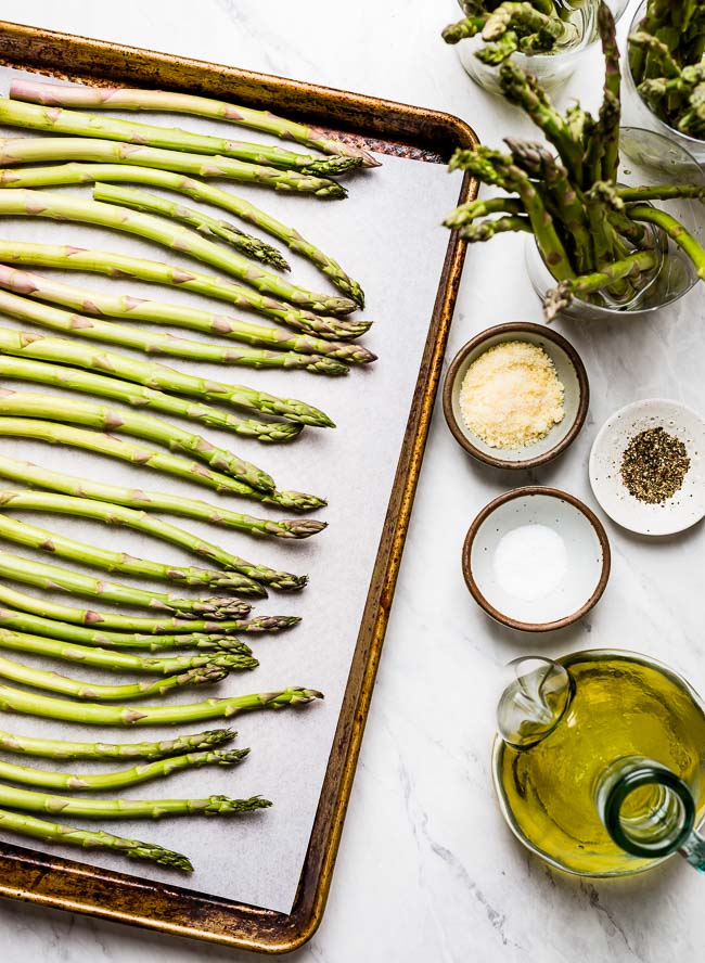 Ingredients for oven baked asparagus recipe