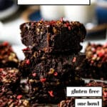 Almond Flour Brownies Recipe Pin with text on it