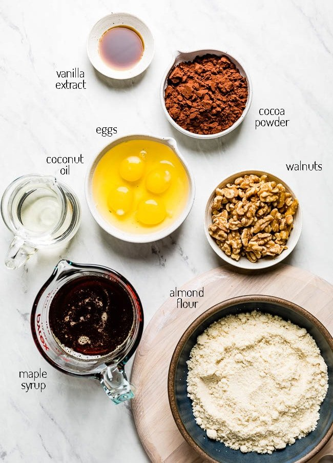 Ingredients for the recipe from the top view