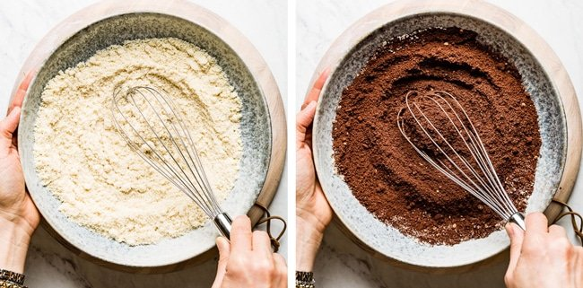 Person Mixing dry ingredients