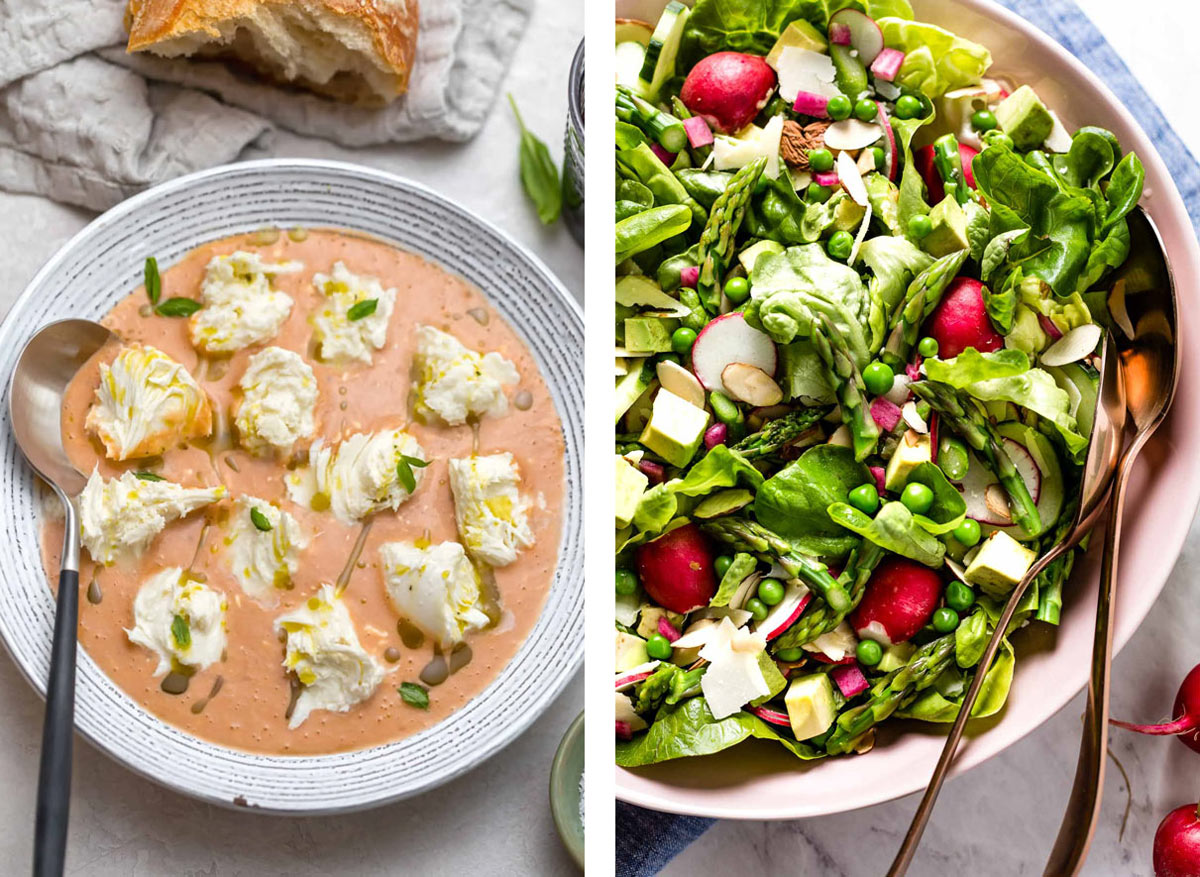Two different recipe photos side by side