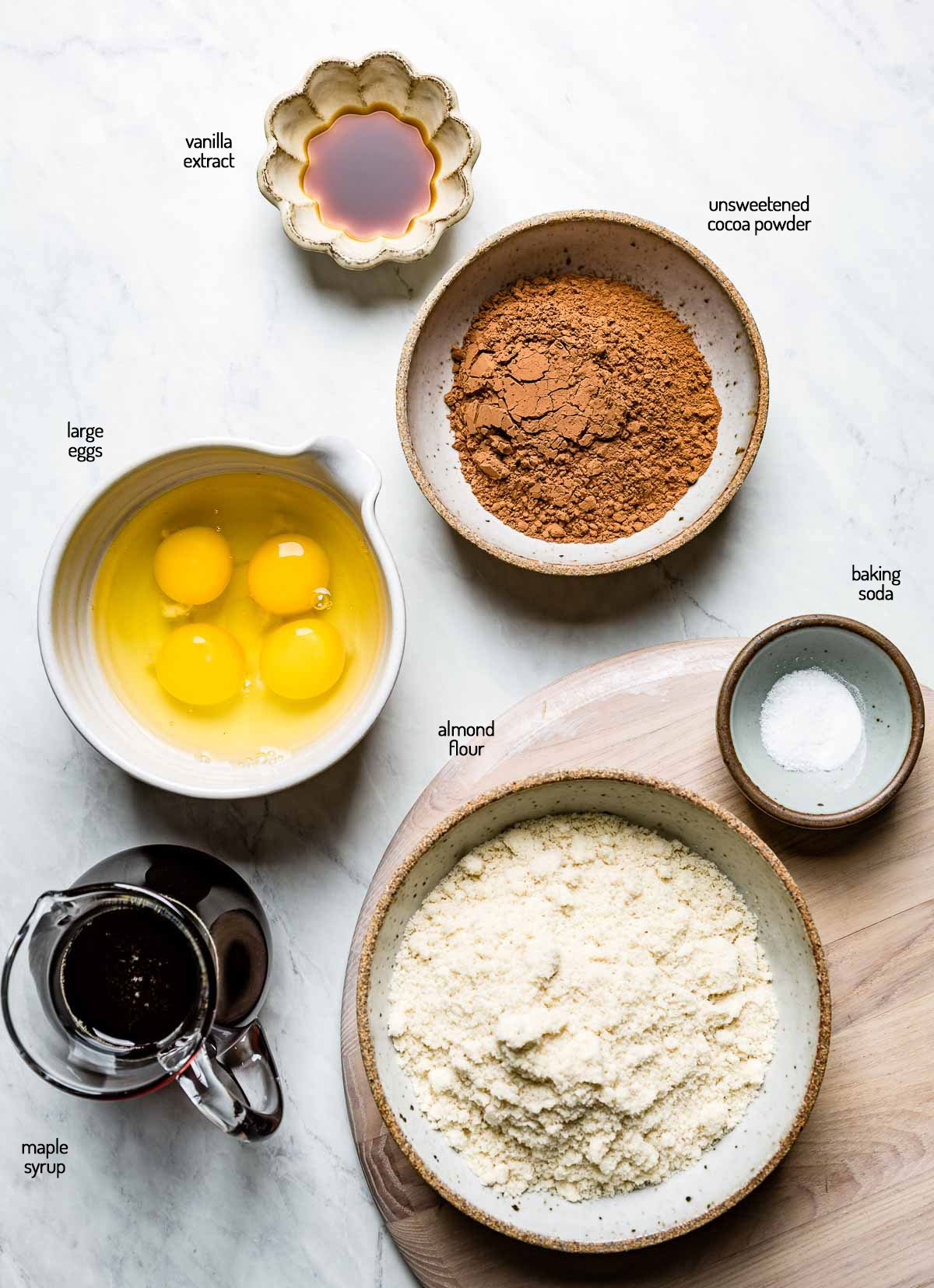 Ingredients for the recipe are laid out