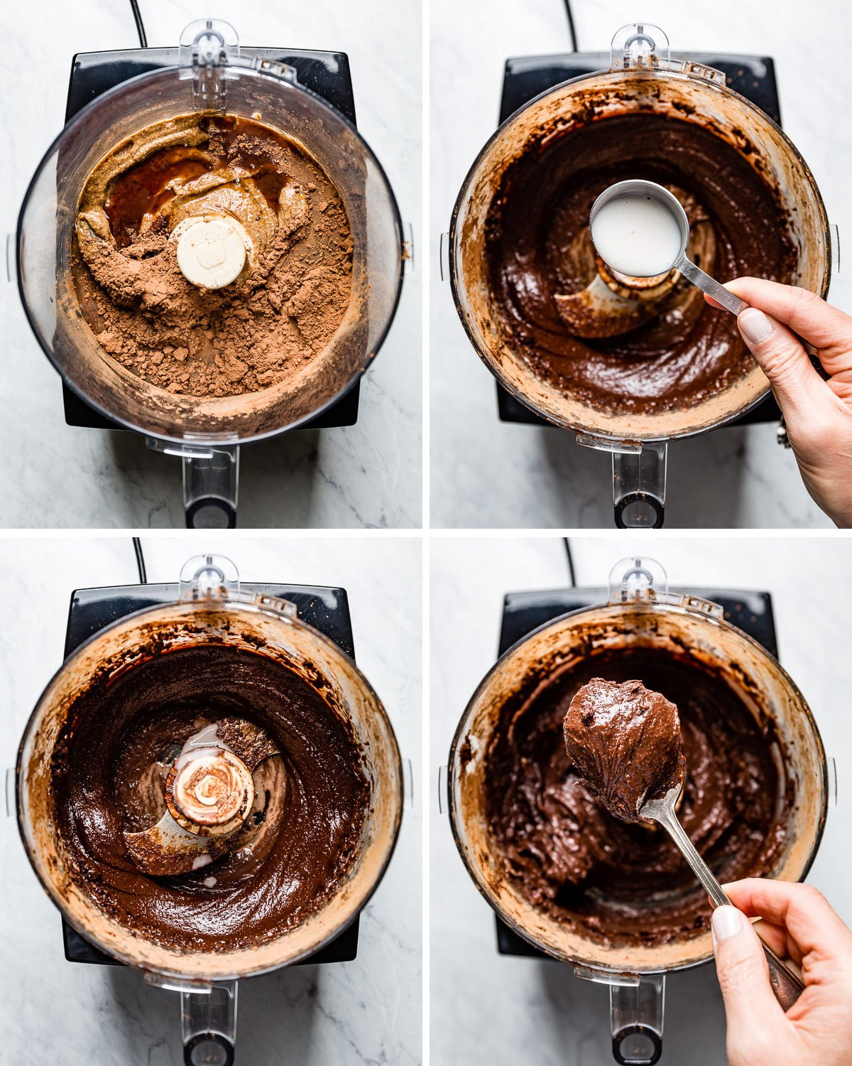 Four images showing how to make the recipe step by step